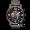นาฬิกา Fossil รุ่น JR1437 Nate Chronograph Stainless Steel Watch - Smoke