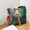 กระเป๋าแฟชั่นสไตล์วินเทจ สายสะพายสีสดใส-สีเขียว