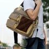 กระเป๋าผ้าแฟชั่นผู้ชาย สีกากี ใบใหญ่ ดีไซน์เก๋ สุดแนว สไตล์สปอร์ต