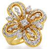 แหวนเพชรCZ เพชรสวิส แหวน Lilly สีทอง