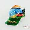 ของที่ระลึกไทย แม่เหล็กติดตู้เย็น ลวดลายชายหาด รูปทรงหมวกแก๊ป