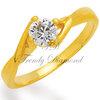 แหวนเพชร Princess Diamond สีทอง