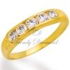 แหวนเพชรเบญจา สีทอง