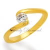 แหวนเพชร Curly Diamond สีทอง