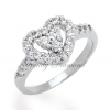 แหวนเพชร Two Hearth สีทองคำขาว