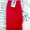 กางเกงเล็คกิ้ง ขายาวสีแดง ผ้านาโนใส่สบาย
