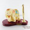 ของที่ระลึก ช้างทรงเครื่องเรซิ่น ที่เสียบปากกา รูปช้างแม่ลูก สินค้าพร้อมส่ง