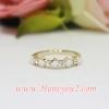 แหวน ดอก LV ขาว กลีบมน