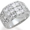 แหวนเพชรCZ เพชรสวิส แหวน The Great Wall สีทองคำขาว