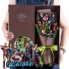 ช่อดอกไม้โมเดลการ์ตูน รวมฮีโร่ The Avengers ดิ เอเวนเจอร์ส(10 ตัว)