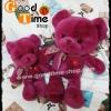 ตุ๊กตาหมีขนนุ่มนิ่มสีชมพูเข้ม (size L)