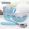 ชุดถ้วยชาม แก้ว ช้อนใส่อาหารโดราเอม่อน ชุด 4 ชิ้น (ของแท้)