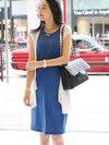 ชุดเซ็ต เดรสแขนกุดสีน้ำเงิน+เสื้อกั๊กสีขาว น่ารักมากๆค่ะ