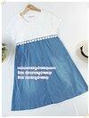 เดรสคลุมท้องสีขาวผ้าลูกไม้เย็บซ้อนผ้ายืดข้างใน เย็บต่อกระโปรงยีนส์เทียม(ผ้านิ่มค่ะ) มีซิปเปิดให้นมได้ มีสายผูกหลัง งานดี น่ารักมากๆค่ะ (เหมาะกับคุณแม่ไซส์ใหญ่ค่ะXL)