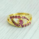 แหวนพลอยทับทิมแท้ หุ้มทองคำแท้ ไซส์ 55