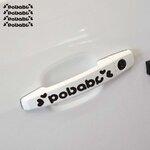 สติ๊กเกอร์ติดมือจับประตูรถ POBABY(1Pack/4ชิ้น) สีดำ 11 * 2CM