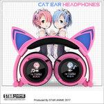 หูฟังแมว Re:Zero รีเซทชีวิต ฝ่าวิกฤตต่างโลก cat ear headphone