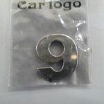 สติ๊กเกอร์ติดรถยนต์ อักษรภาษาอังกฤษ ตัวอักษร 9 ชุปโครเมียม pvp 2.8x2.8cm
