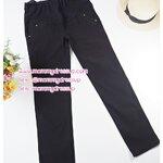 กางเกงขายาวทำงานสีดำขาเดฟ แต่งกระดุม 2 เม็ดที่กระเป๋าหน้า ผ้านิ่มใส่สบายค่ะ เอวปรับระดับได้ตามอายุครรภ์ น่ารักมากๆค่ะ