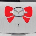 สติ๊กเกอร์โบว์คิตตี้สีแดง ติดโลโก้รถ ขนาด 15x20 ซม.