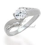 แหวนเพชร แหวนทวิตตี้ สีทองคำขาว