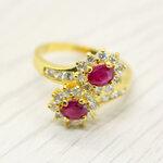 แหวนพลอยทับทิมแท้ หุ้มทองคำแท้ ไซส์ 54