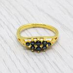 แหวนพลอยไพลินแท้ หุ้มทองคำแท้ ไซส์ 54