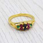 แหวนพลอยแท้ หุ้มทองคำแท้ ไซส์ 54