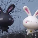 จุ๊บติดกระจก Rabbit เปิดตา สีขาว (ขนาด 10*7 CM)