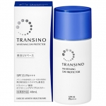 Shiseido Transino WHITENING DAY PROTECTOR SPF35PA+++ ครีมกันแดดผสมTranexamic acid เอสเซ้นต์ผิวหน้าขาวลดการก่อตัวของเม็ดสี melanin เหมาะสำหรับการใช้แก้ปัญหาฝ้า เน้นเรื่องการรักษารอยดำต่างๆ รอยสิว ฝ้ากระ รอยแผลตามร่างกาย ช่วยให้ใบหน้ากลับมาดูใสได้อย่างเห็นผ