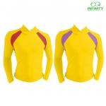 bike shirt สีเหลือง-ม่วง / สีเหลือง-แดง
