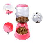 เครื่องให้อาหารสุนัข เครื่องให้อาหารอัตโนมัติ เครื่องให้อาหารหมา เครื่องให้อาหารแมว รุ่น LS152 (สีชมพู) สำเนา