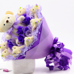 ช่อดอกไม้ตุ๊กตาหมีน่ารัก