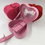 กล่องใส่แหวน ใส่เครื่องประดับ แบบหัวใจ สวยๆแนวกำมะหยี่ (เลือกสีได้เลยคะ)