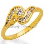 แหวนเพชร แหวนก้นหอย สีทอง สำเนา