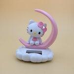 อุปกรณ์แต่งรถยนต์ Hello Kitty โบว์ชมพู ดุ๊กดิ๊กพลังงานแสงอาทิตย์
