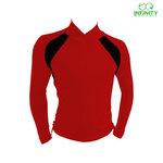 bike shirt สีแดง-ดำ