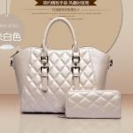 กระเป๋าเซต 2 ใบ สีขาวครีม ดูดี มีสไตล์