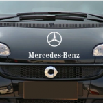สติ๊กเกอร์ติดรถ Mercedes Benz พร้อมเครื่องหมายสีขาว ขนาด 13*25CM