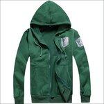เสื้อฮู้ด Attack On Titan (ผ่าพิภพไททัน) รุ่น 4 สีเขียว/ดำ/น้ำตาล/ขาว