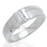 แหวนเพชร Z Ring สีทองคำขาว