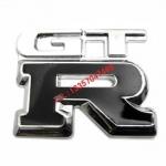 สติ๊กเกอร์ติดรถยนต์ logo GTRสีดำ งานโลหะ 3D ติดท้ายรถ