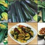 ซูกินนี่ แบล็ค บิวตี้ (black beauty zucchini) 5เมล็ด/ซอง