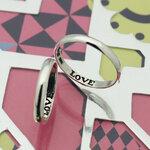 แหวนคู่ แหวนหมั้น แหวนแต่งงาน สลักเลิฟ TSR03MM