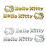 สติ๊กเกอร์ 3D ติดที่เปิดประตู hello kitty สีทอง 1pack/2ชิ้น