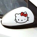 สติ๊กเกอร์ติดกระจกมองข้างรถ Kitty (1Pack/2ชิ้น)