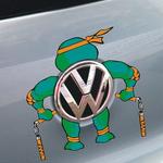 สติ๊กเกอร์ติดโลโก้รถยนต์ เต่านินจาแบบ 4