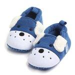 รองเท้าเด็กอ่อน 0-12เดือน รองเท้าเด็กชาย เด็กหญิง ลายหมาน้อยสีน้ำเงิน