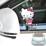 สติ๊กเกอร์ติดรถยนต์ Hello kitty 14x10 CM