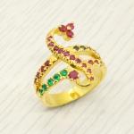แหวนพลอยแท้ หุ้มทองคำแท้ ไซส์ 55